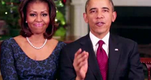 The Obama's at Christmas