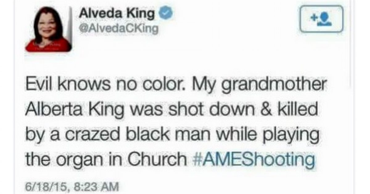 Alveda King Tweet