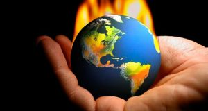 Global Warming- earth on fire