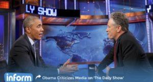 Obama and Jon Stewart