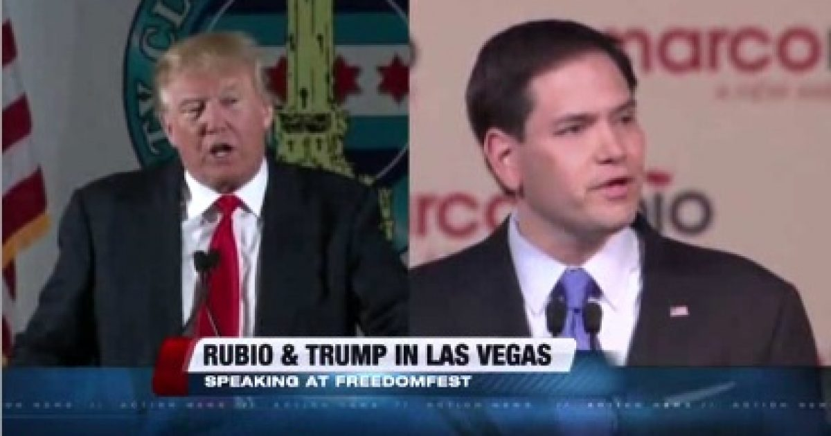 Trump and Rubio at FreedomFest