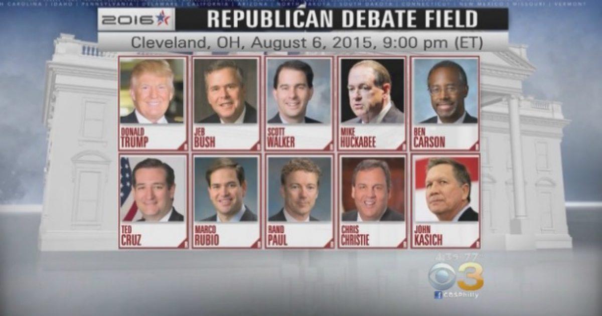GOP debate field