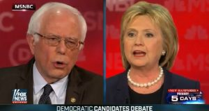 hillary and bernie clash