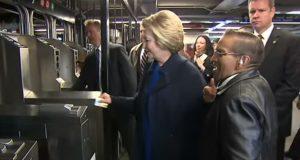 Hillary New York Subway
