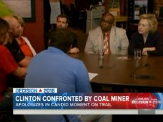 hillary and coal miner