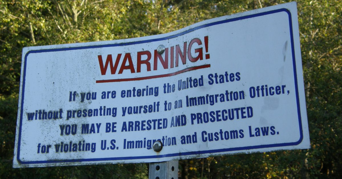 Immigration border notice
