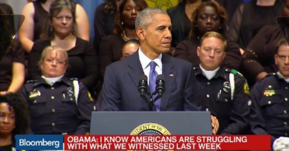 obama dallas funeral