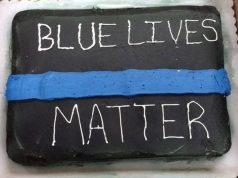 blue lives matter cake
