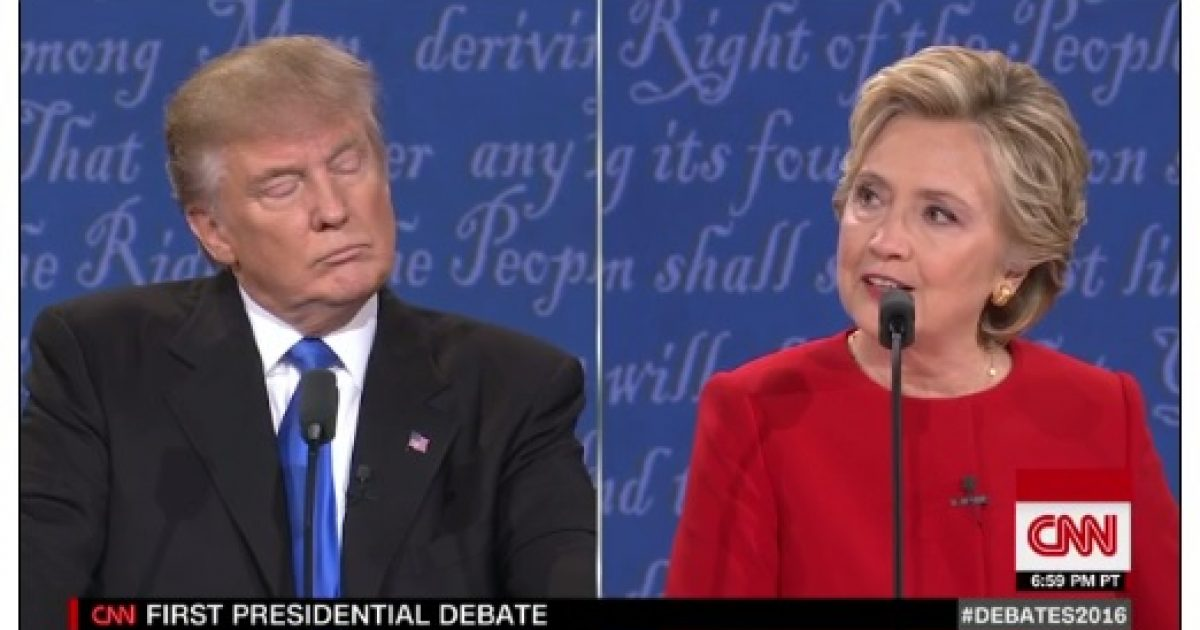 trump and hillary debate