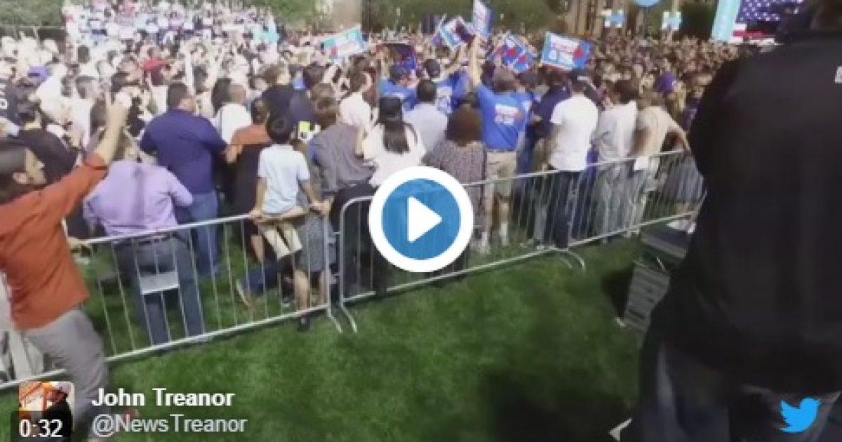 Clinton Rally Protester