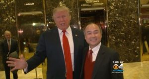 donald trump and founder of softbank