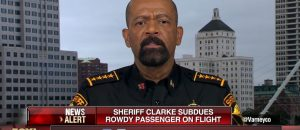 This is What Happens When a Drunk Man Hassles Sheriff Clarke on an Airplane