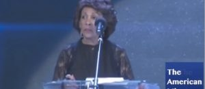 "Maxine Waters Gone Wild Calls Trump ""dishonorable human being"" During Eulogy"