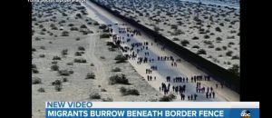 376 Migrants Caught After Digging Under Border Fence
