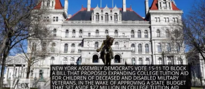 NY Democrats Give College Tuition Aid to Illegal Immigrants but Block Aid Expansion for Gold Star Families