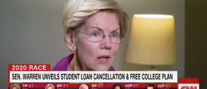 Senator Warren Campaigns on Free College and Cancelling Student Debt