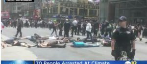 70 Climate Change Protesters Arrested Outside of New York Times Headquarters