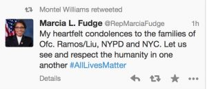 "Hypocrisy Exposed: Rep Marcia Fudge Tweets Condolences To Family Of Slain Police Officers After House Floor ""Hands Up, Don't Shoot"" Stunt"
