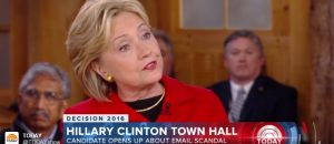 Watch: Hillary Loses Her Temper on The Today Show